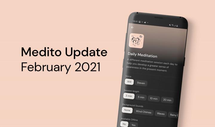 Medito Update - February 2021